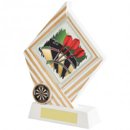 White & Gold Darts Diamond Resin Award