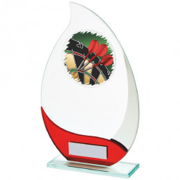 Jade & Red Glass Darts Award