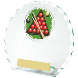 Circular Jade Glass Snooker Award