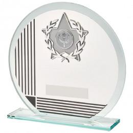 Circular Glass & Black Stripe Star Trim Award