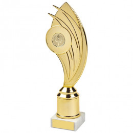 Gold Swoosh Curve Holder Trophy