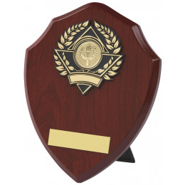 Wood Effect Shield Trophy