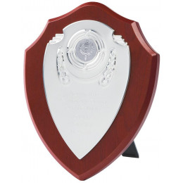 Chrome Fronted Shield Trophy