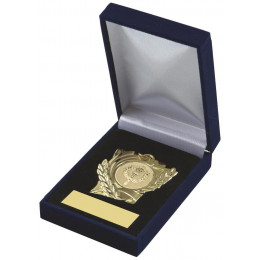 Heavy Quality Medal in Blue Presentation Case