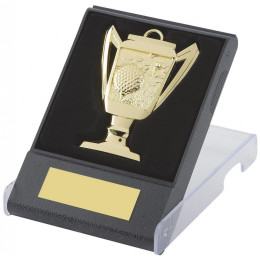 Cup Design Golf Medal in Presentation Case