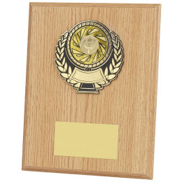 Light Wood Effect Plaque Award