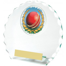 Round Jade Glass Award for Cricket
