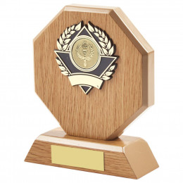 Light Wood Octagon Sports Award