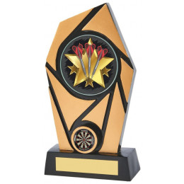 Black & Gold Resin Holder Darts Award