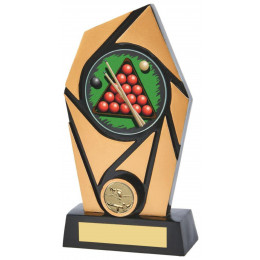 Gold & Black Resin Snooker Award