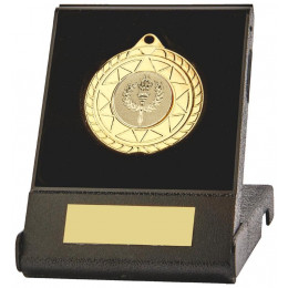 70mm Sun Burst Medal in Black Case