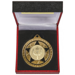 50mm Two Tone Medal in Black Case