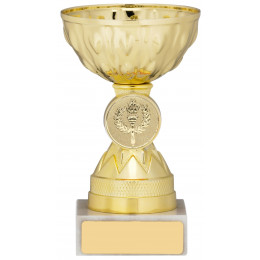 Gold Trophy Cup on Marble Base