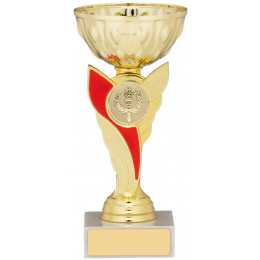 Gold Cup With Red Stem Trophy