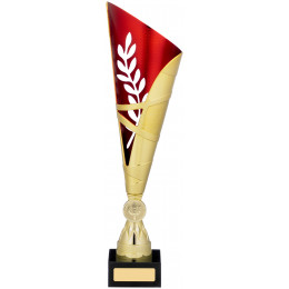 Gold Red Trophy