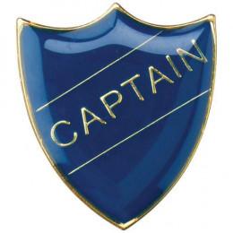 School Shield Badge Captain Blue