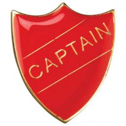 School Shield Badge Captain Red