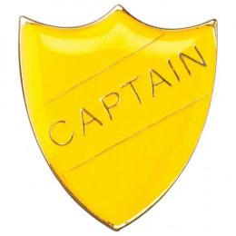 School Shield Badge Captain Yellow