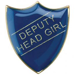 School Shield Badge Deputy Head Girl Blue