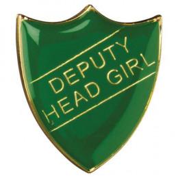 School Shield Badge Deputy Head Girl Green