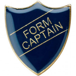School Shield Badge (Form Captain) - Blue