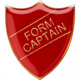 School Shield Badge (Form Captain) - Red