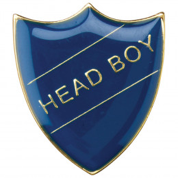 School Shield Badge Head Boy Blue