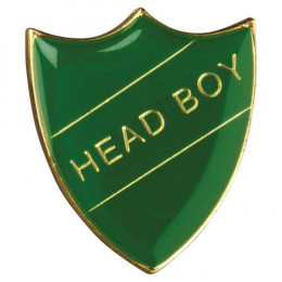 School Shield Badge Head Boy Green