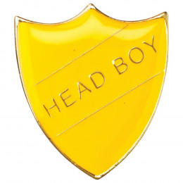 School Shield Badge Head Boy Yellow