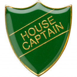 School Shield Badge (House Captain) - Green