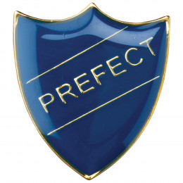 School Shield Badge Prefect Blue