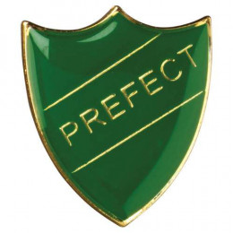School Shield Badge Prefect Green