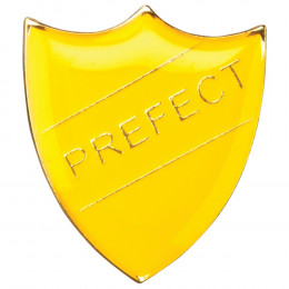 School Shield Badge Prefect Yellow