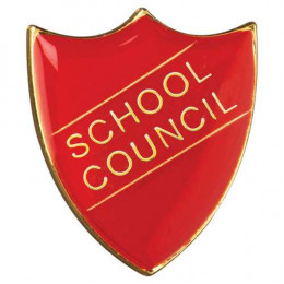 School Shield Badge School Council Red