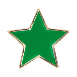Star Enamel Green Badge