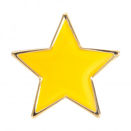 Star Enamel Yellow Badge