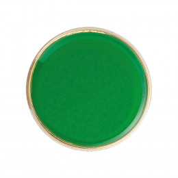 Round Enamel Green Badge