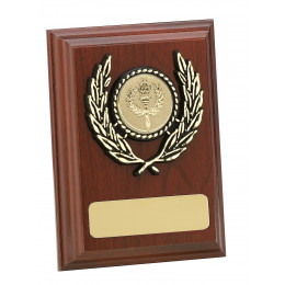 Mahogany Finish Plaque