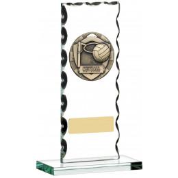 Netball Glass Plaque