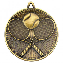 Tennis Deluxe Medal - Antique Gold