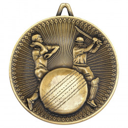 Cricket Deluxe Medal - Antique Gold