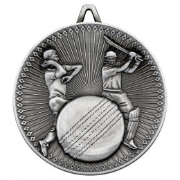 Cricket Deluxe Medal - Antique Silver