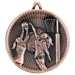 Netball Deluxe Medal - Bronze