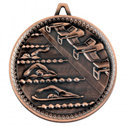 Swimming Deluxe Medal - Bronze