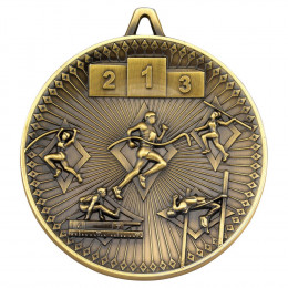 Athletics Deluxe Medal - Antique Gold
