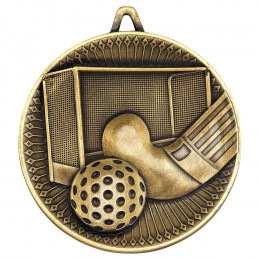 Hockey Deluxe Medal - Antique Gold