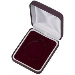 Maroon Padded Medal Box