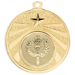 Gold Star Burst Medal