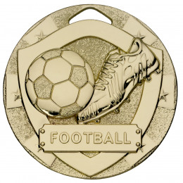Gold Football Mini Shield Medal