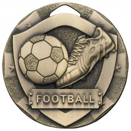 Bronze Football Mini Shield Medal